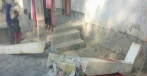ময়মনসিংহের মুক্তাগাছায় সরকারী প্রাথমিক বিদ্যালয়ের শহীদ মিনার ভাংচুর