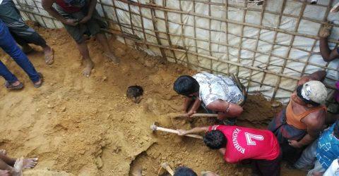 রোহিঙ্গা ক্যাম্পে পাহাড় ধ্বসে দুই নারী-পুরুষের মৃত্যু
