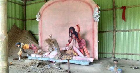 শেরপুরে প্রাচীন কালী মন্দিরের দুর্বৃত্তের ভাঙচুর !!