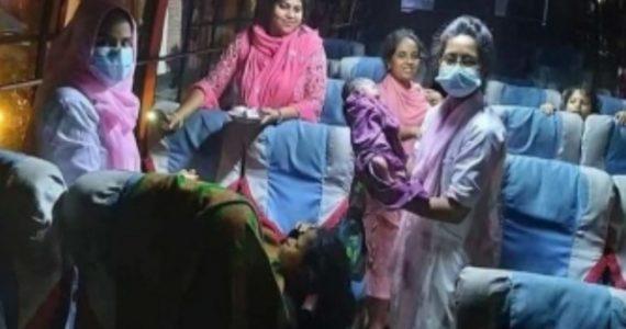 চট্টগ্রামে কক্সবাজারগামী একটি বাসে নারীর সন্তান প্রসব
